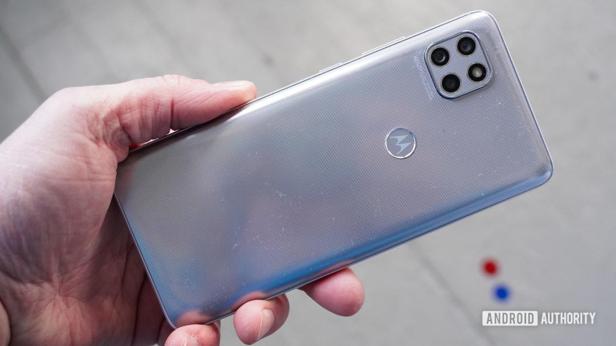Motorola One 5G Ace rear in hand
