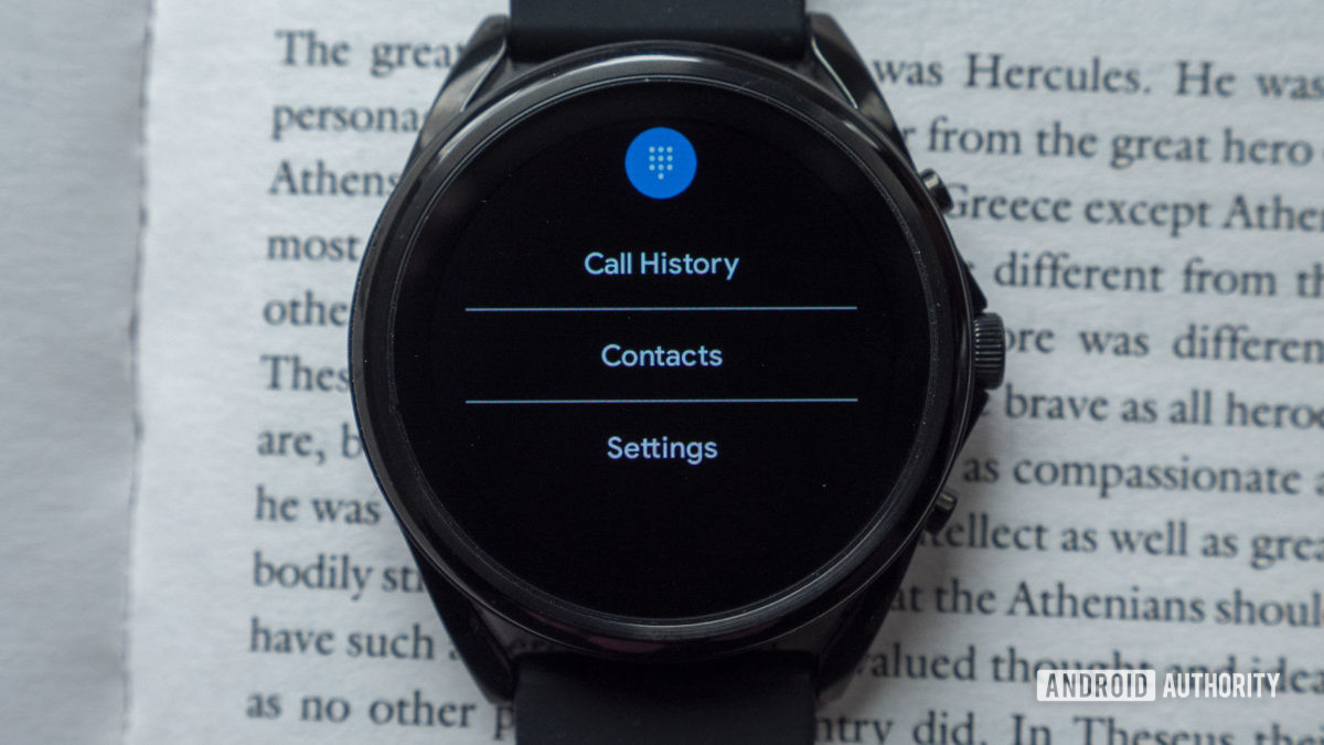 fossil gen 5 lte review call history contacts settings