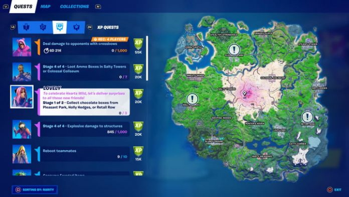 Fortnite challenge guide: Collect chocolate boxes from Pleasant Park, Holly Hedges, or Retail Row