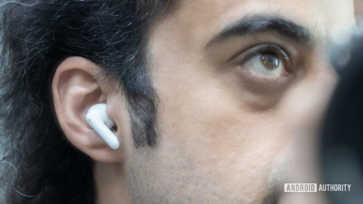 Oppo Enco X review on ear shot