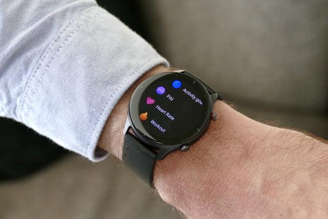 amazfit gtr 2e smartwatch review menu