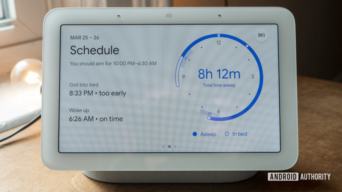 google nest hub second generation review sleep sensing schedule