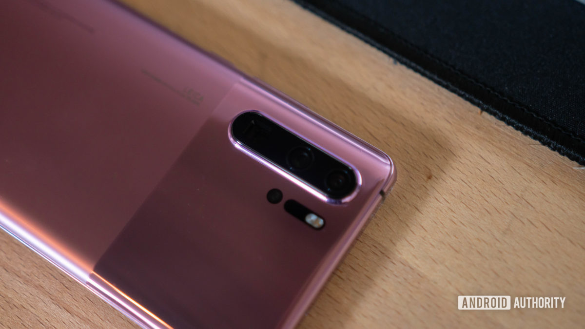 Huawei P30 Pro triple camera on the back