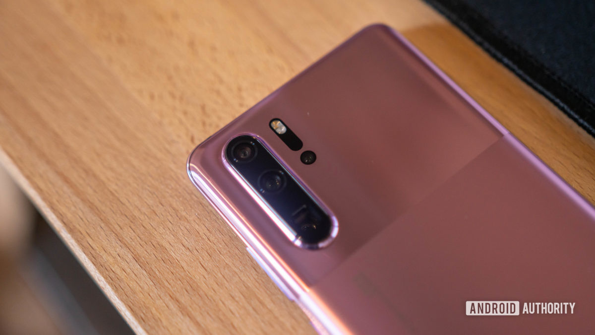 Huawei P30 Pro rear camera modue close up