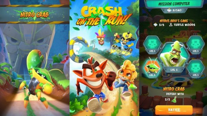 Crash Bandicoot blazes past the competition in his mobile debut
