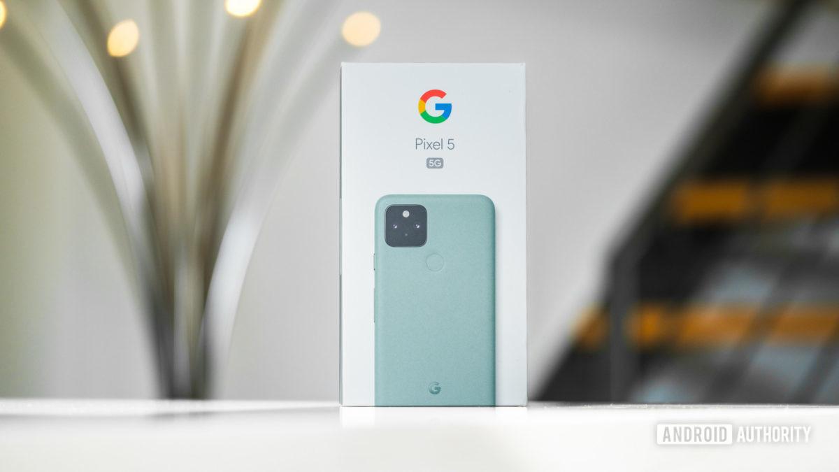 Google Pixel 5 box