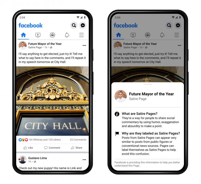 Facebook Tests New Contextual 'Labels' for Posts From Popular Pages