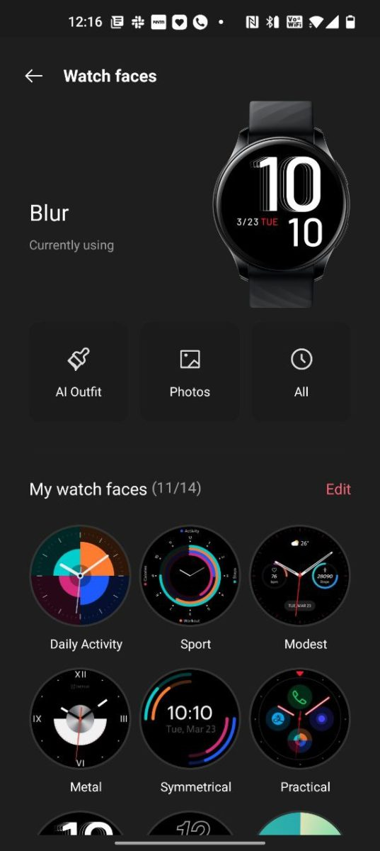 OnePlus Health watch faces