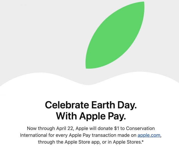 Apple Celebrates Earth Day by Donating $1 for Every Apple Store Purchase Made With Apple Pay