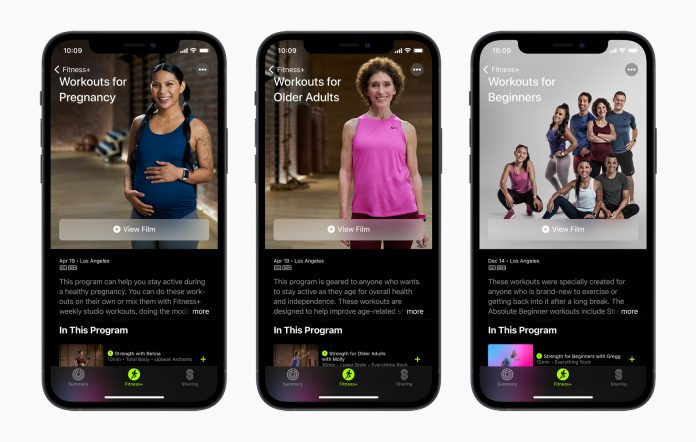 Apple Fitness+ Getting New Workouts for Expecting Mothers, Older Adults, and More on April 19