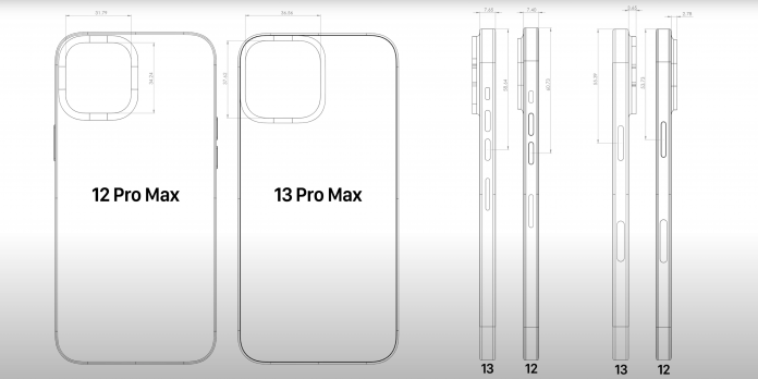 iPhone 13 Series CAD Leaks Reveal Larger Camera Dimensions