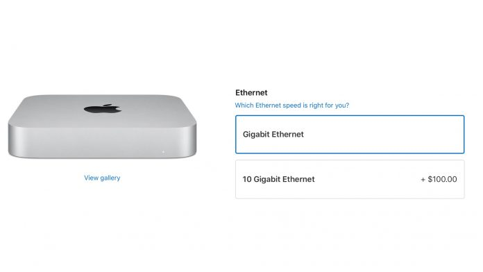 Apple Now Offers $100 10Gb Ethernet Add-On for Mac Mini