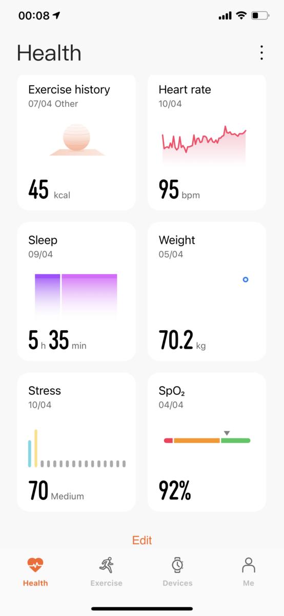 Huawei Health App Honor Band 6 2