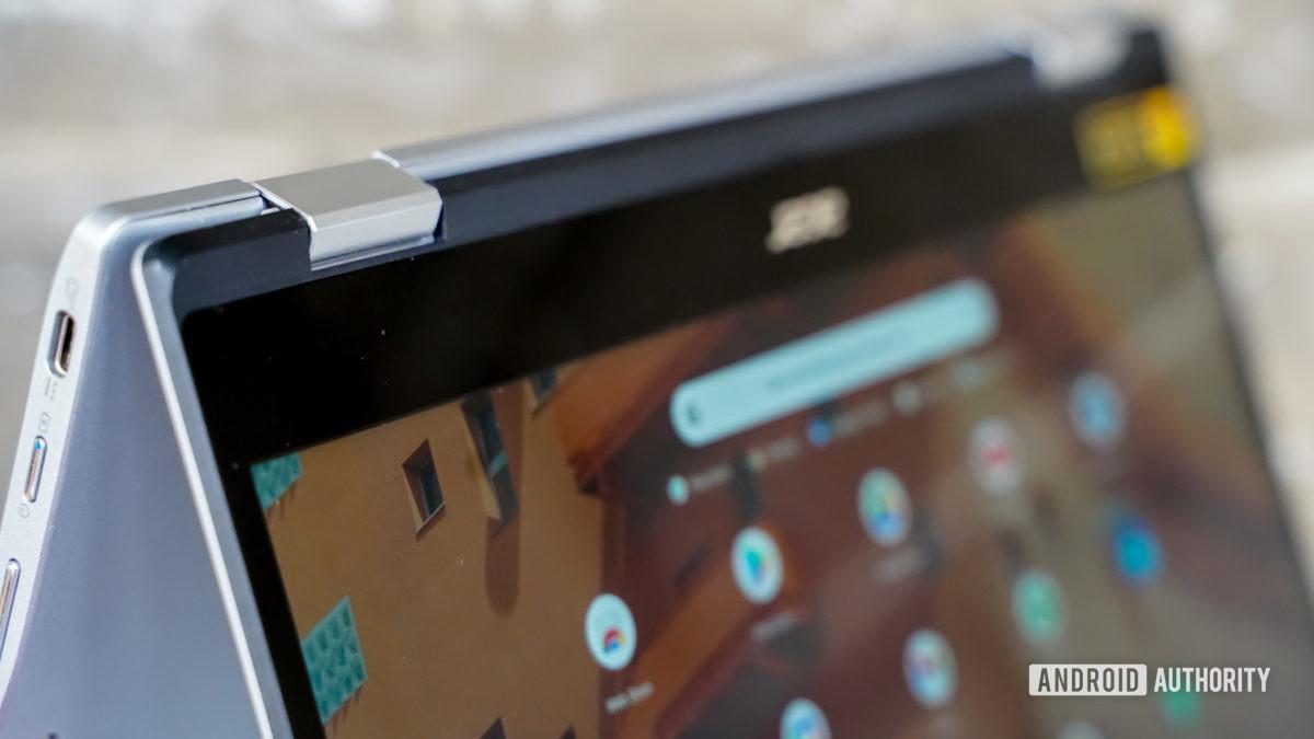 Acer Chromebook Spin 513 hinge tent