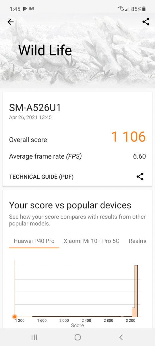 Samsung Galaxy A52 5G 3dmark