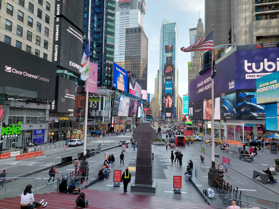 Samsung Galaxy A 52 5G photo sample time square 1x