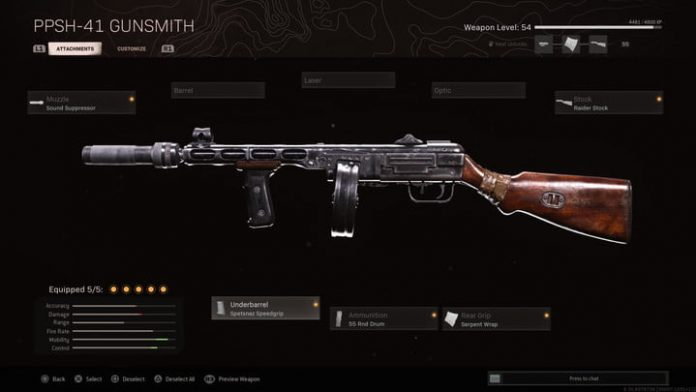 Call of Duty: Warzone PPSh-41 loadout guide