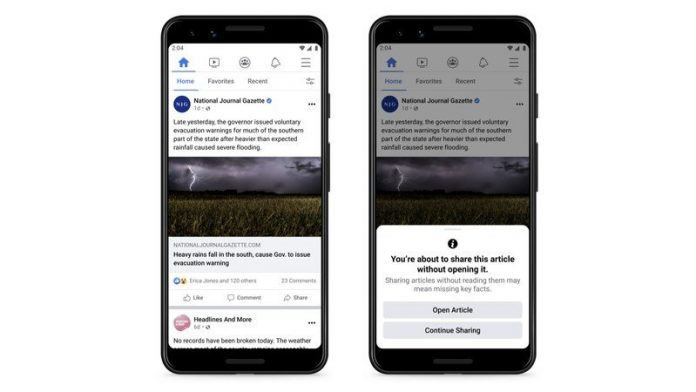 Facebook starts testing 'read first' prompts to combat misinformation