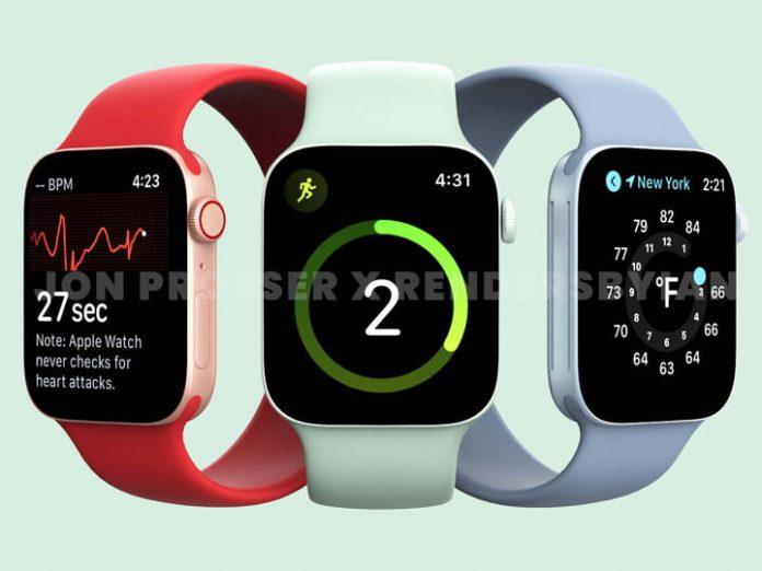 Apple Watch Series 7 design leak shows new colors, flattened shape
