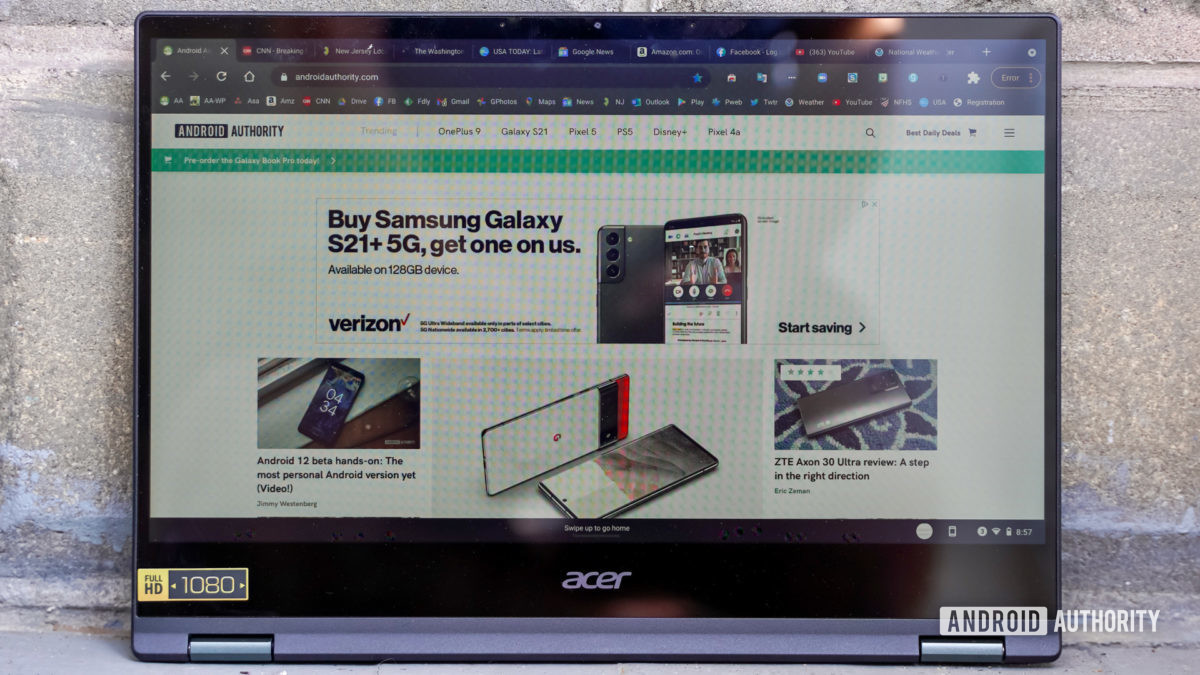 Acer Chromebook Spin 514 display