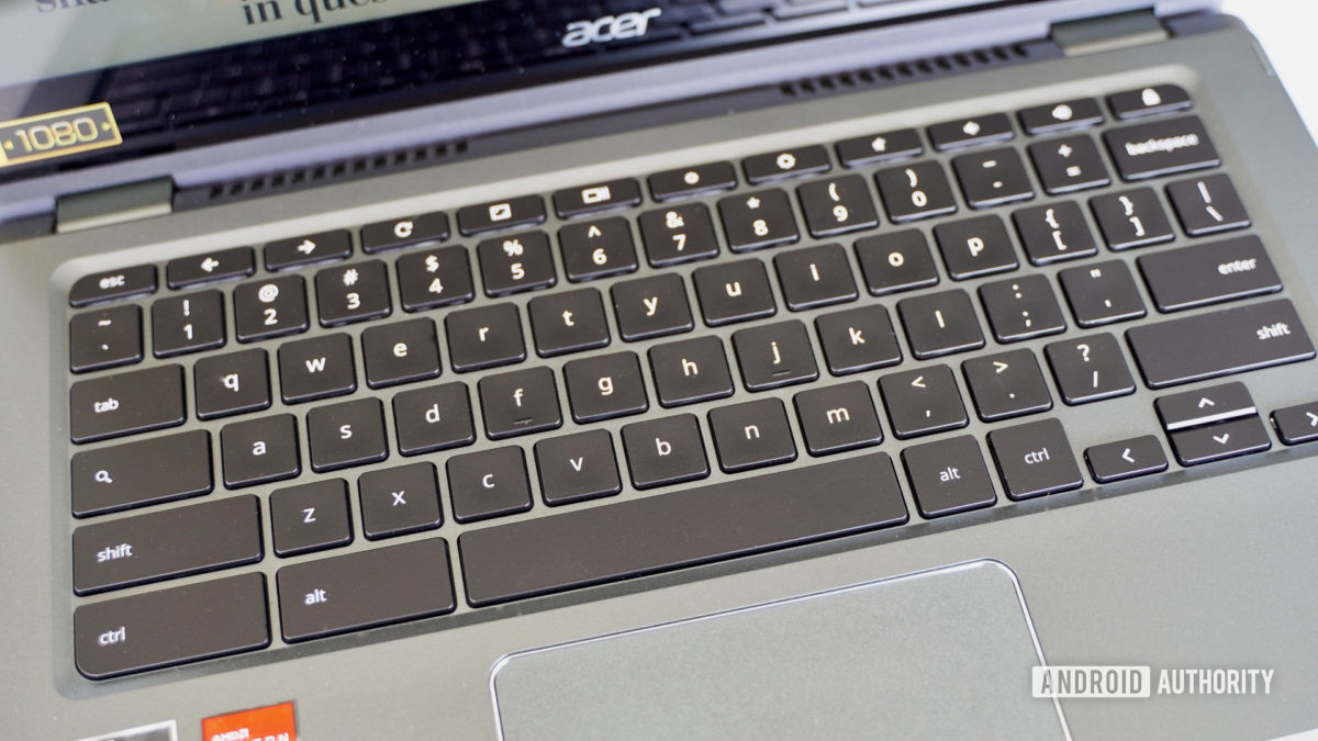 Acer Chromebook Spin 514 keyboard angle