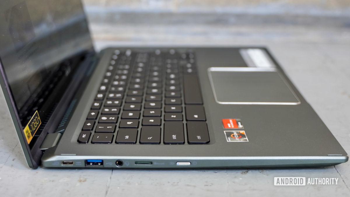 Acer Chromebook Spin 514 left edge