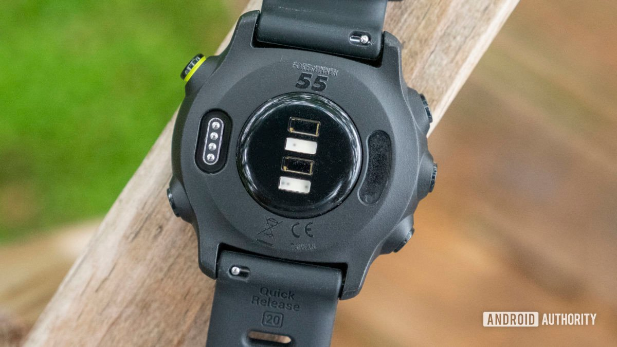 Garmin Forerunner 55 review heart rate sensor