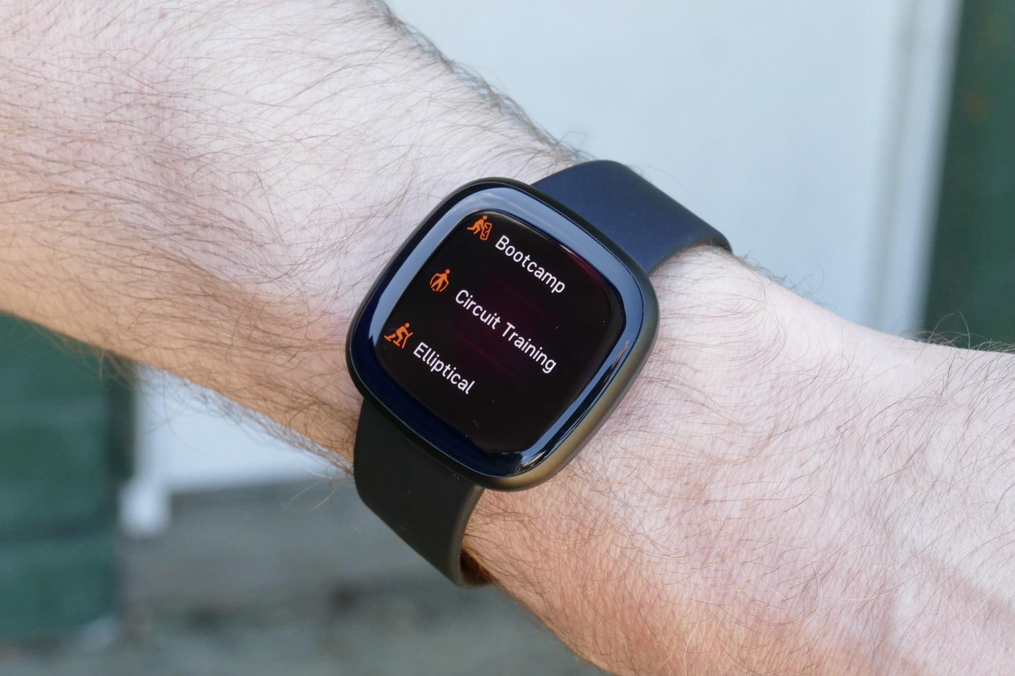 Fitbit Versa 3 workouts