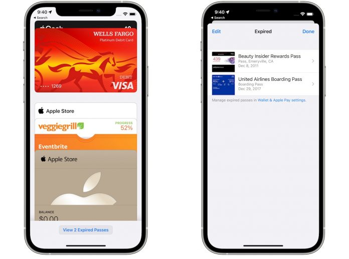 iOS 15 Automatically Archives Expired Boarding Passes and Tickets in Wallet App