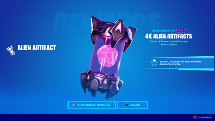 How to get Alien Artifacts fast in Fortnite