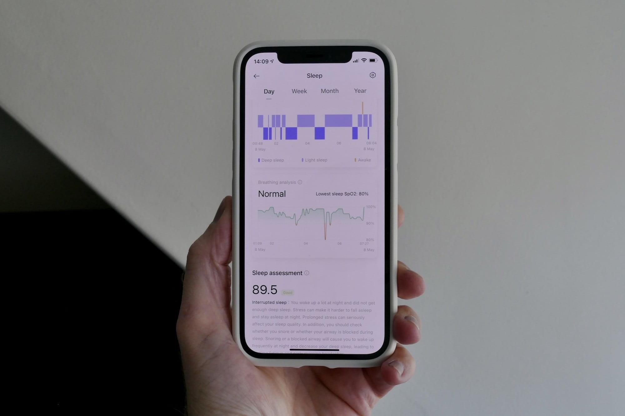 Oppo HeyTap app sleep screen