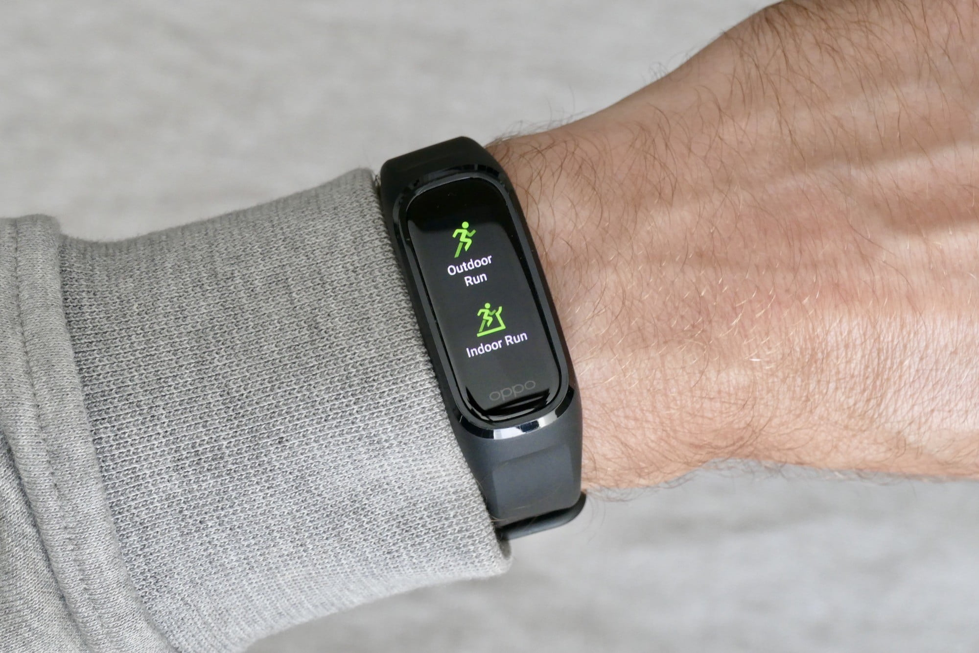 Oppo Band workout screen