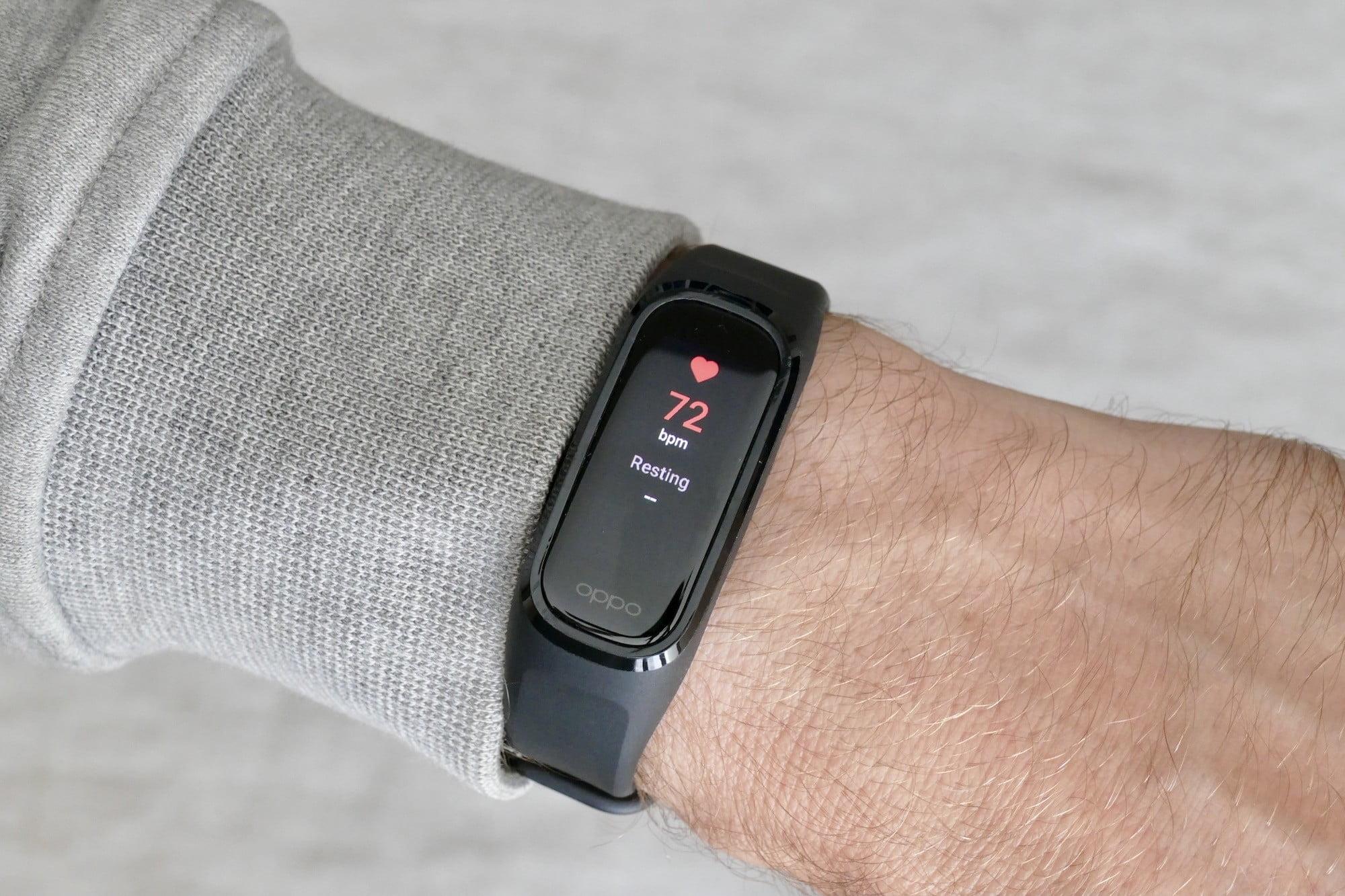Oppo Band heart rate sensor
