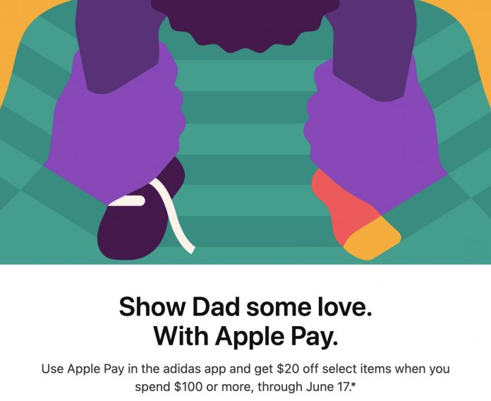 Father's Day Apple Pay Promo Offers Adidas Discount