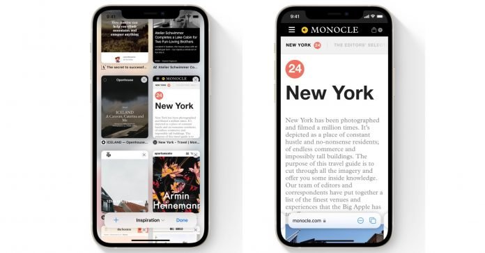 iOS 15: Check Out Safari's New Tab Bar, Tab Groups, and Tab Switcher