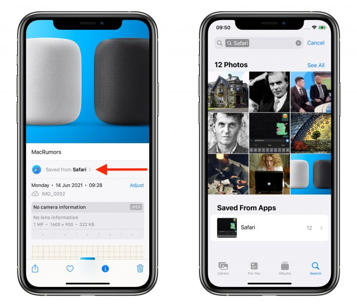 iOS 15 Photos App Tells You Which Apps Saved Images Originated From