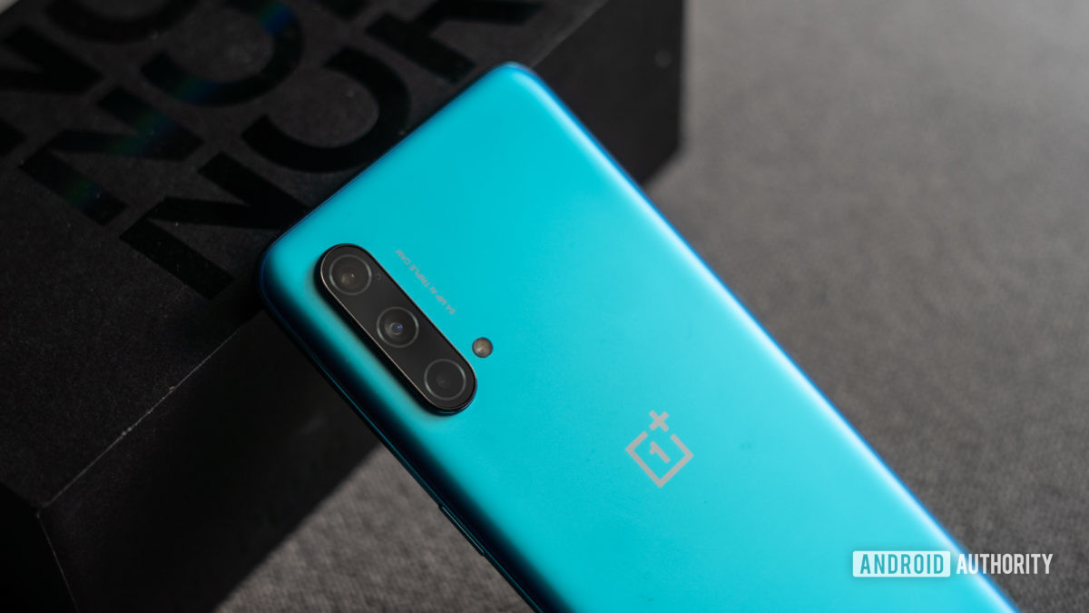 OnePlus Nord CE back of the phone and cameras