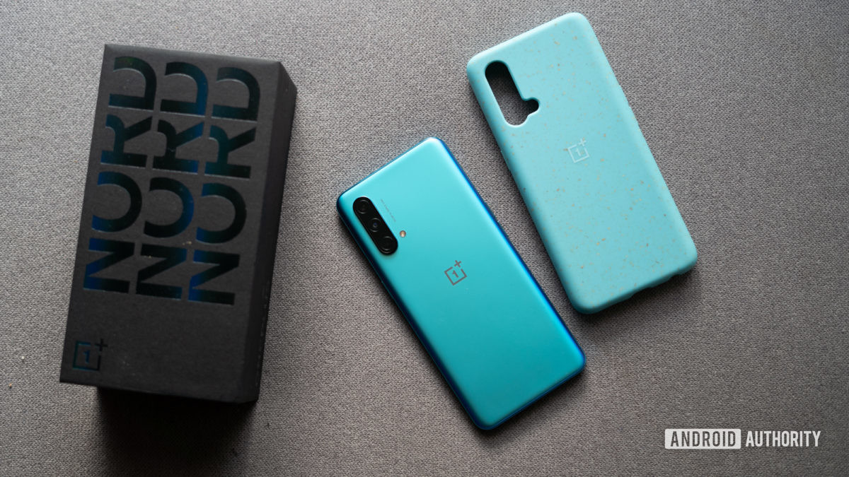OnePlus Nord CE with box and cover