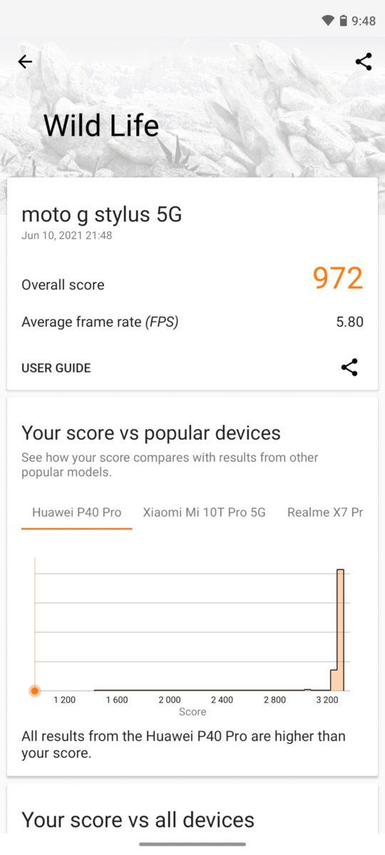 Motorola Moto G Stlyus 5G 3DMark
