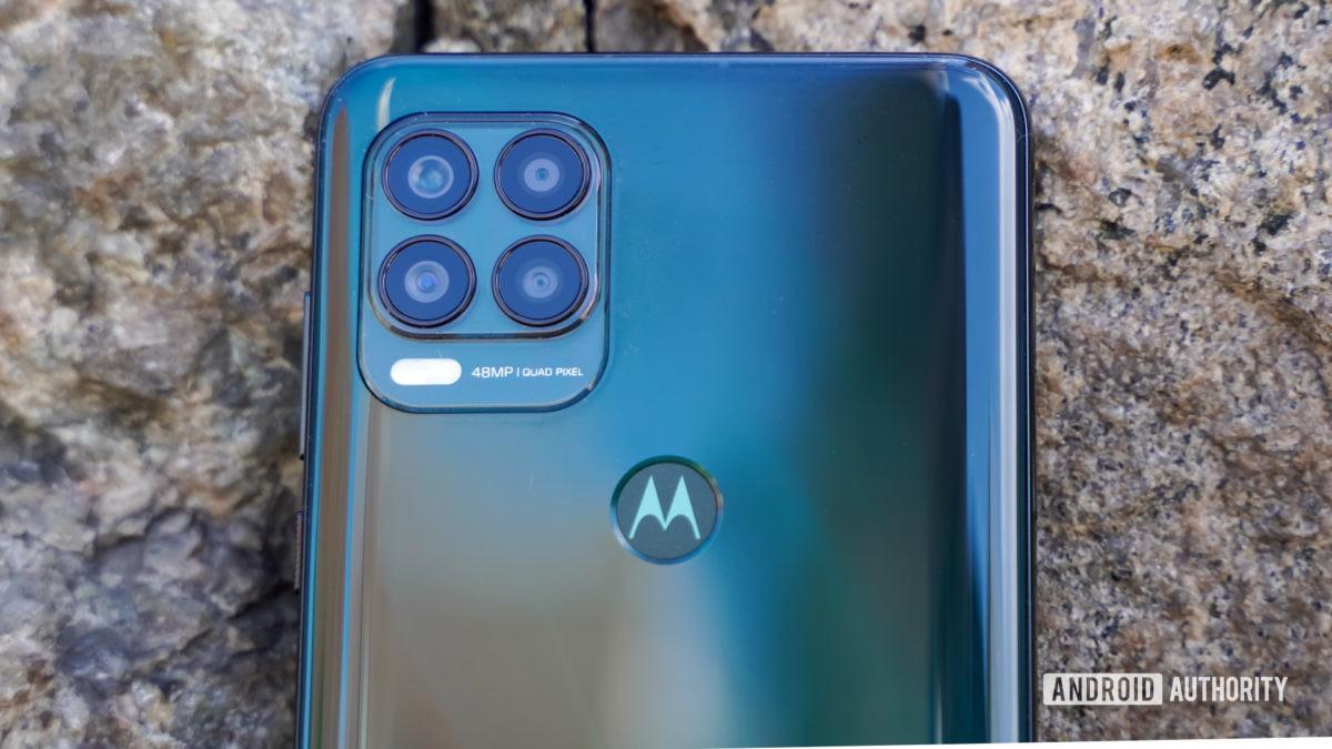 Motorola Moto G Stylus 5G camera closeup
