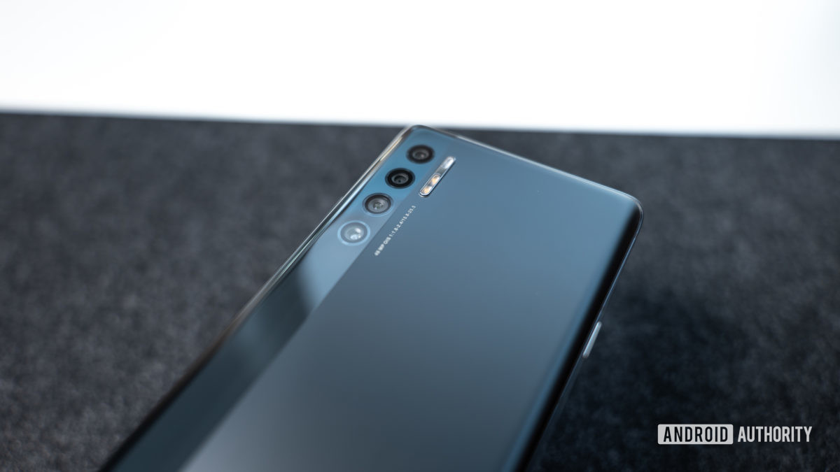 The TCL 20 Pro 5G on a grey table