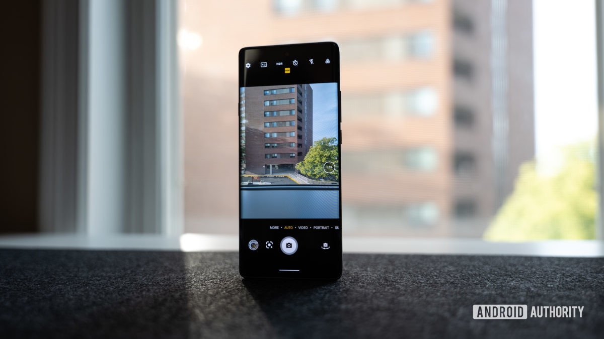 The TCL 20 Pro 5G cameras, taking a picture in front of a window.