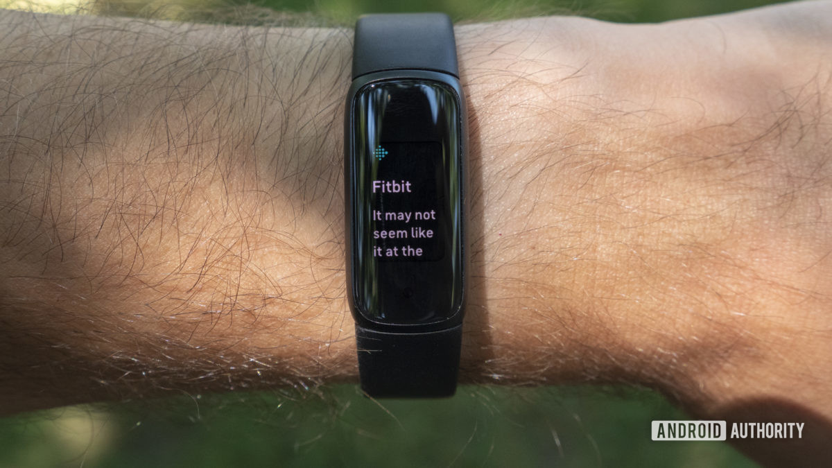 fitbit luxe review notifications insights