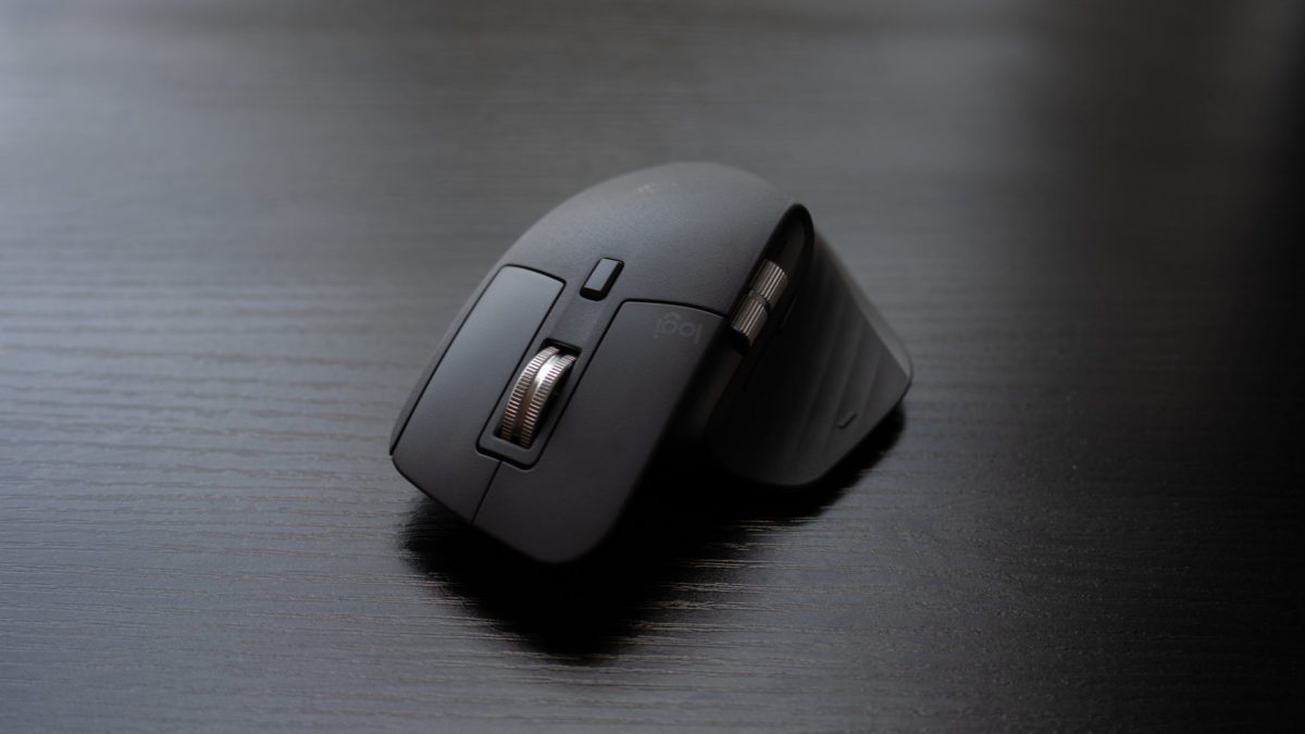 The Logitech MX Master 3 on a table.