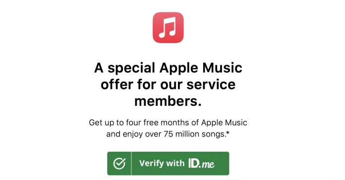 Apple Music Four-Month Free Trial Offered to US Military and Veterans