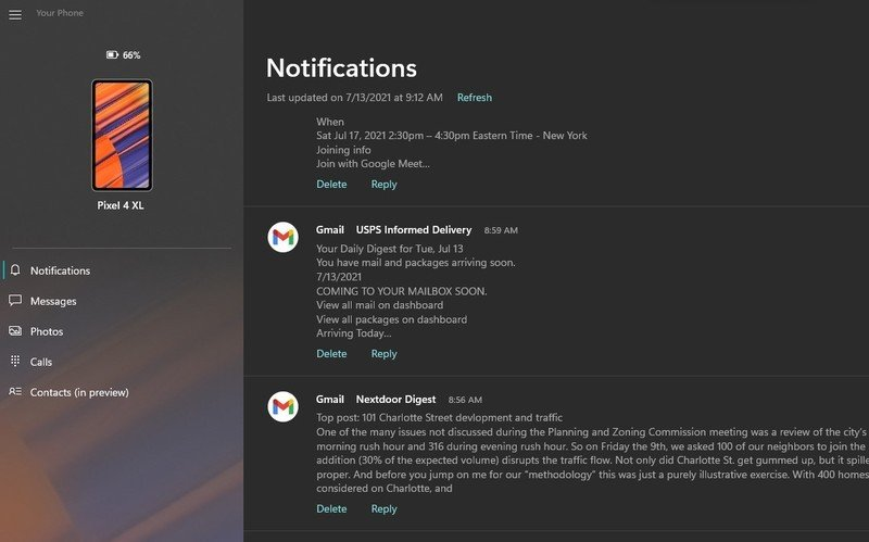 microsoft-your-phone-notifications-panel