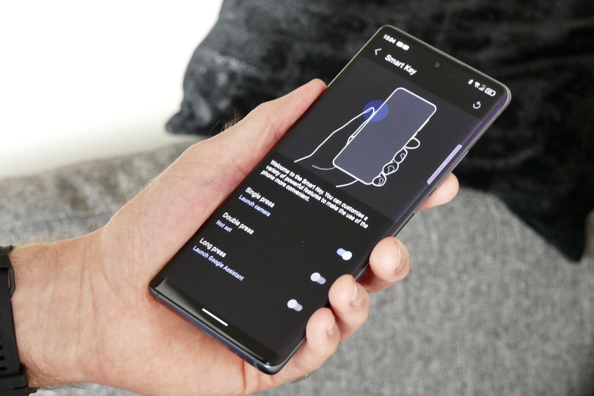 Smart Key menu on the TCL 20 Pro 5G.
