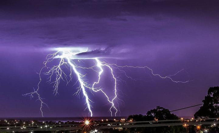 A lightning strike.