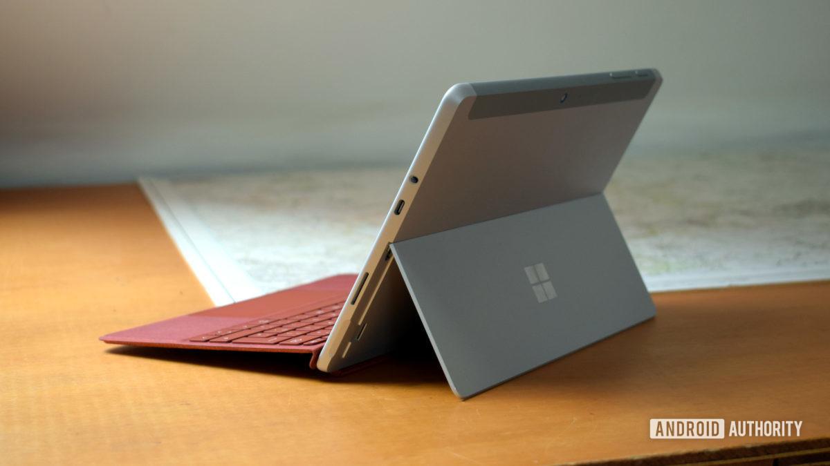 The Microsoft Surface Go 2 kickstand.