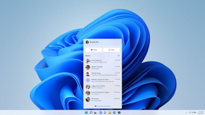 Latest Windows 11 build includes the new built-in Microsoft Teams experience